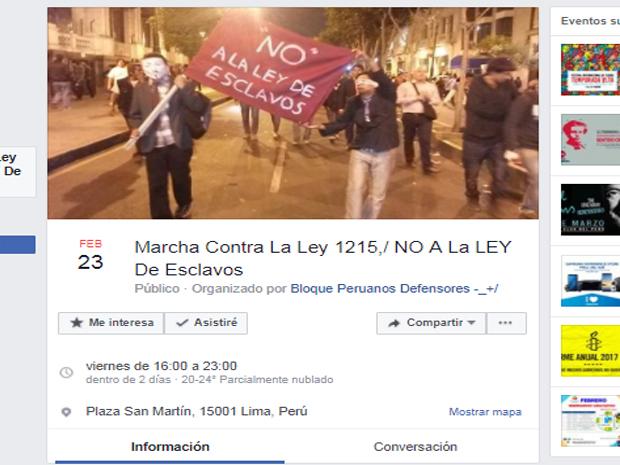 Facebook: Convocan a marcha contra la nueva \'Ley Pulpín\' [FOTO ...