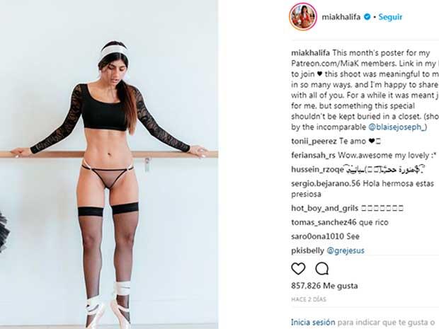 Mia Khalifa Muestra Parte íntima Y Desafía Instagram Foto