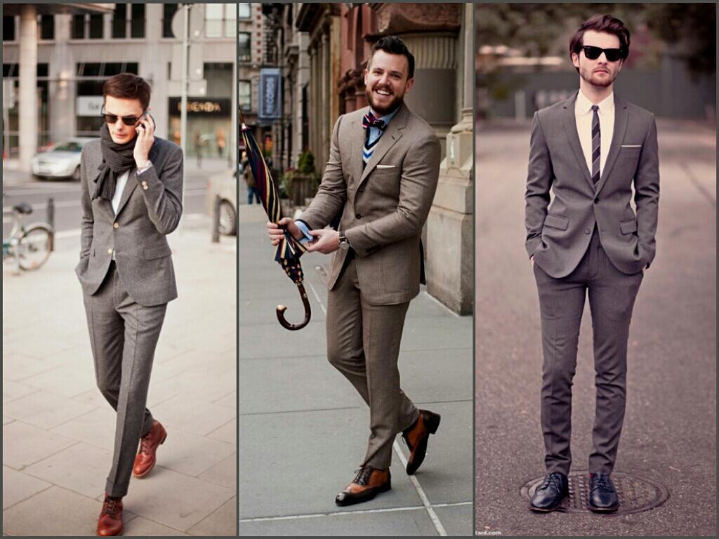 Trajes modernos para hombres delgados