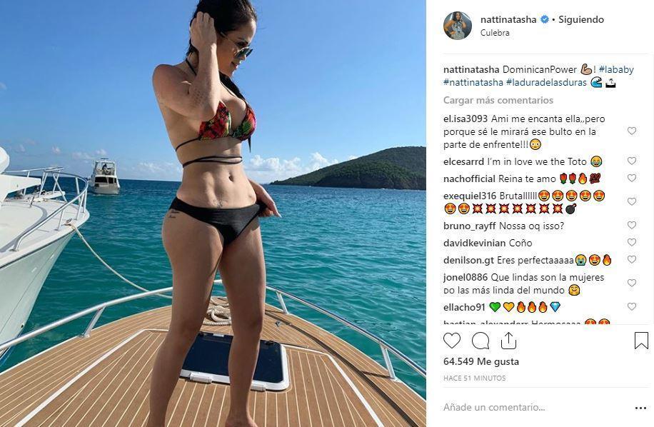 34eb11113721 Instagram: Natti Natasha posa en bikini y remece las redes sociales ...