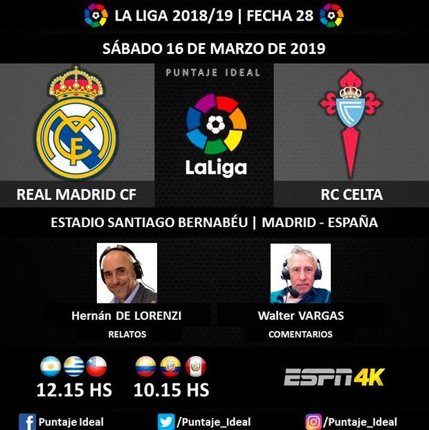 Real Madrid Vs Celta De Vigo EN VIVO EN DIRECTO Vía FOX