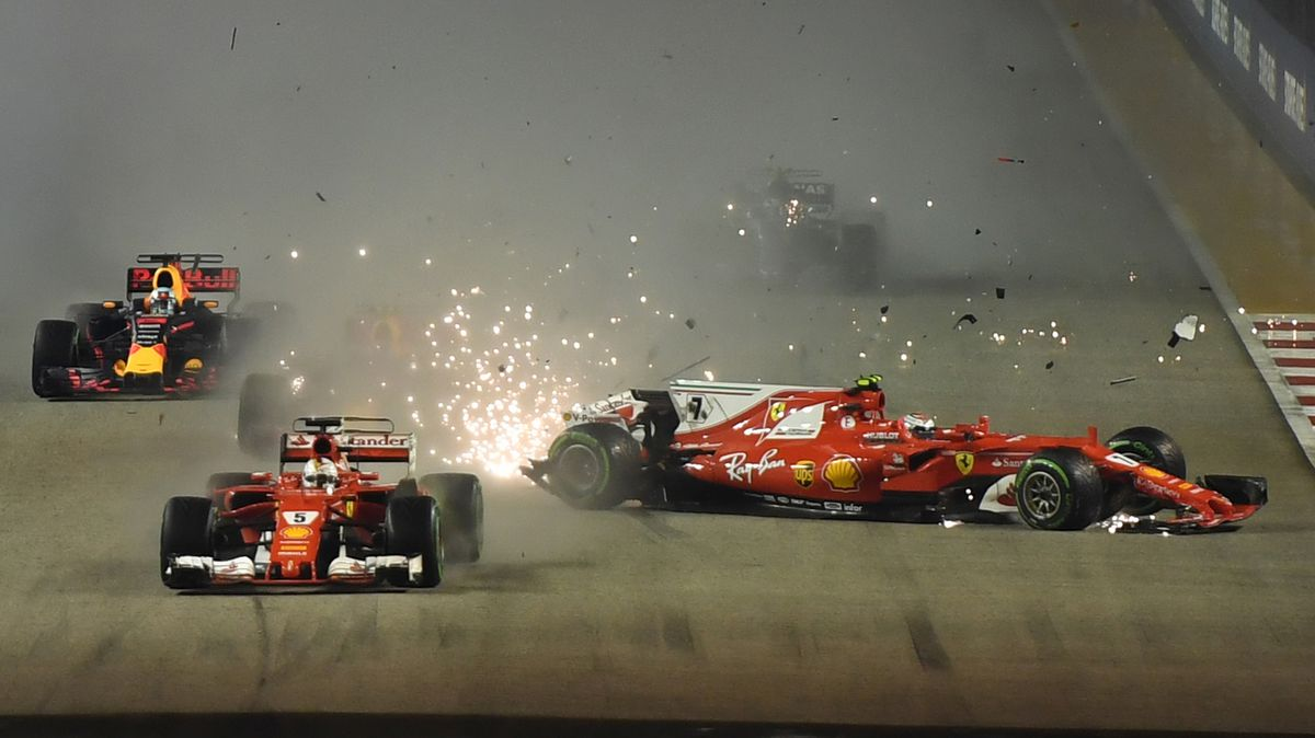 YouTube: El terrible accidente que se produjo en el inicio del GP de Singapur [VIDEO ...
