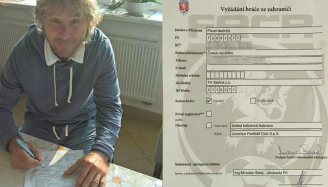 Nedved vuelve al fútbol con 45 años: jugará en el FK Skalná