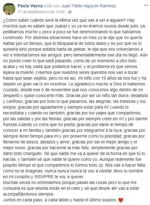 Carta facebook