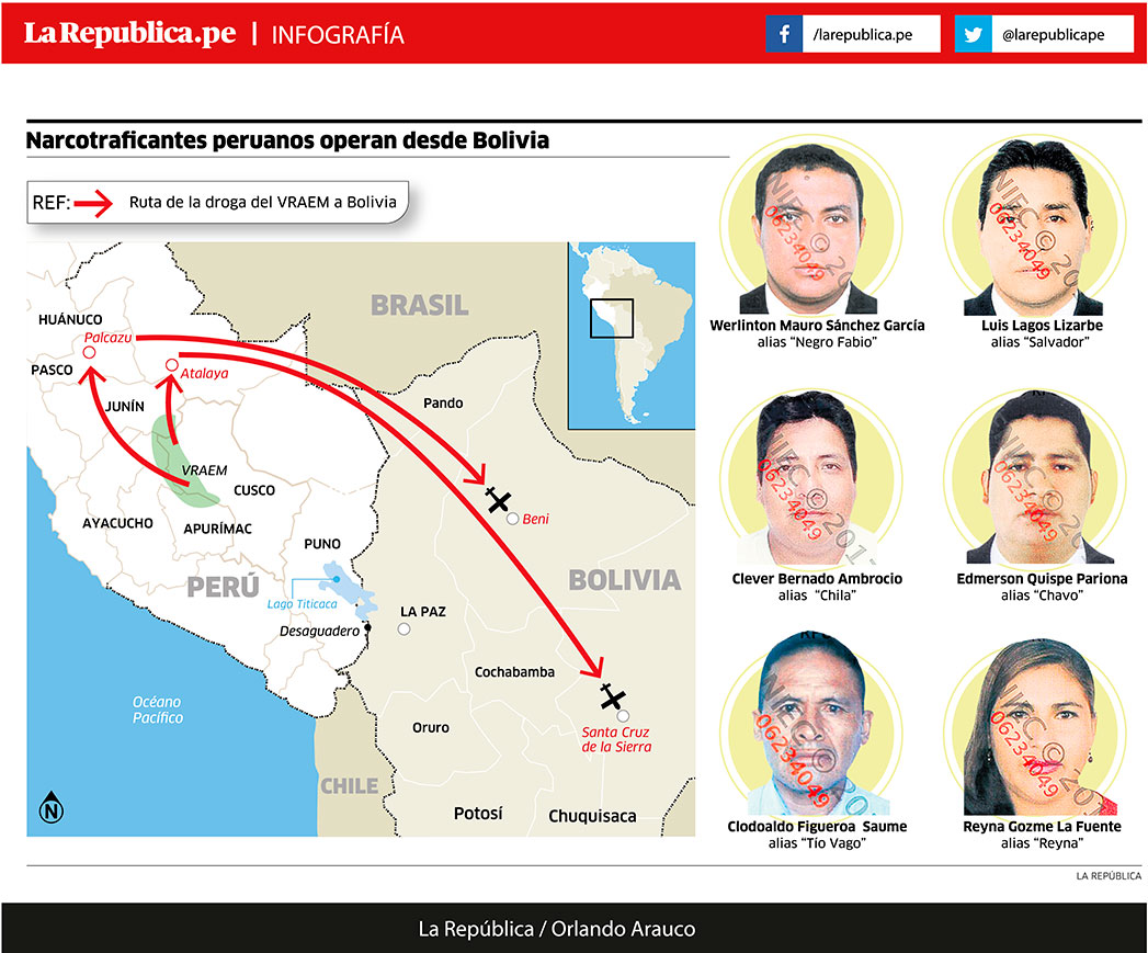 Narcotraficantes peruanos operan desde Bolivia