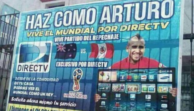 La irónica publicidad en Perú que utiliza la imagen de Arturo Vidal