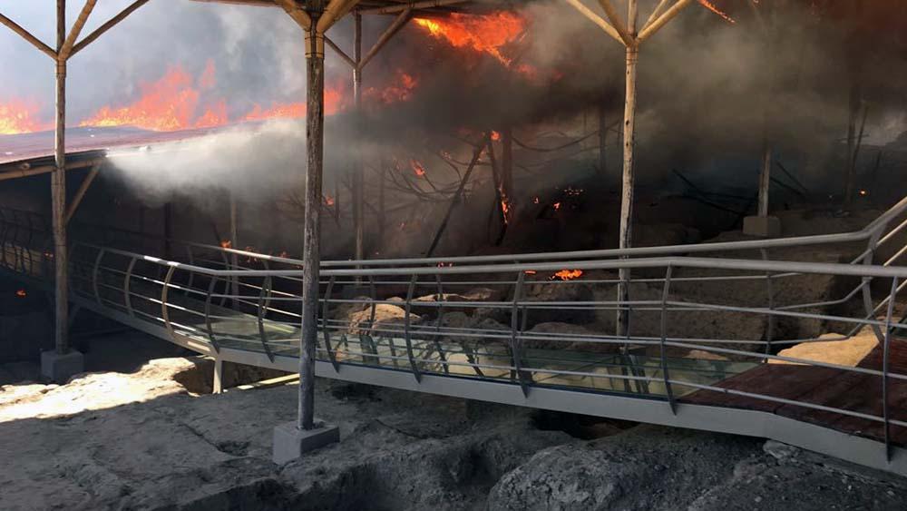 Incendio en Complejo arqueológico Ventarrón.