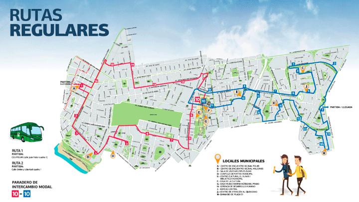Disponen servicio gratuito de buses en San Isidro