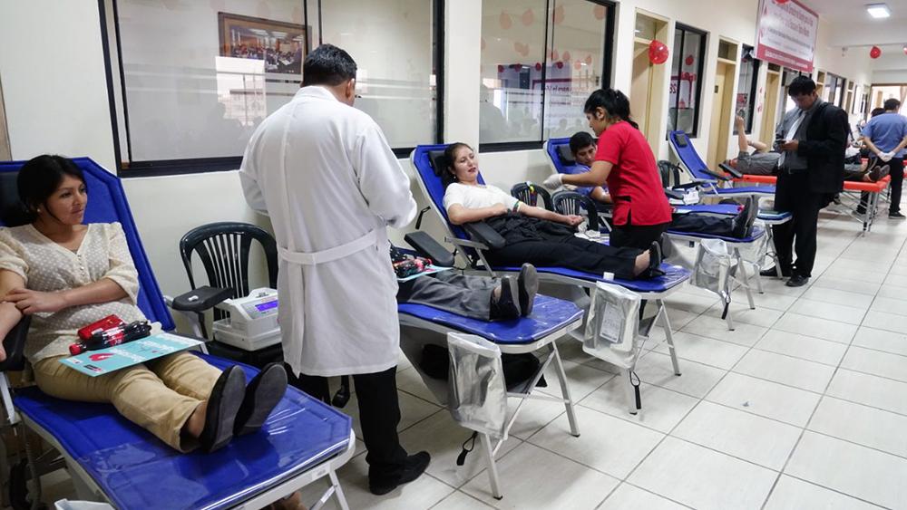 Donación para el banco de sangre.