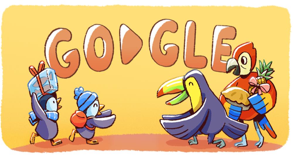 Google celebra la Navidad con unos pingüinos playeros