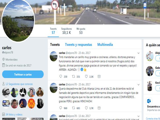 Luis Aguiar jugará en Nacional de Uruguay — Alianza Lima