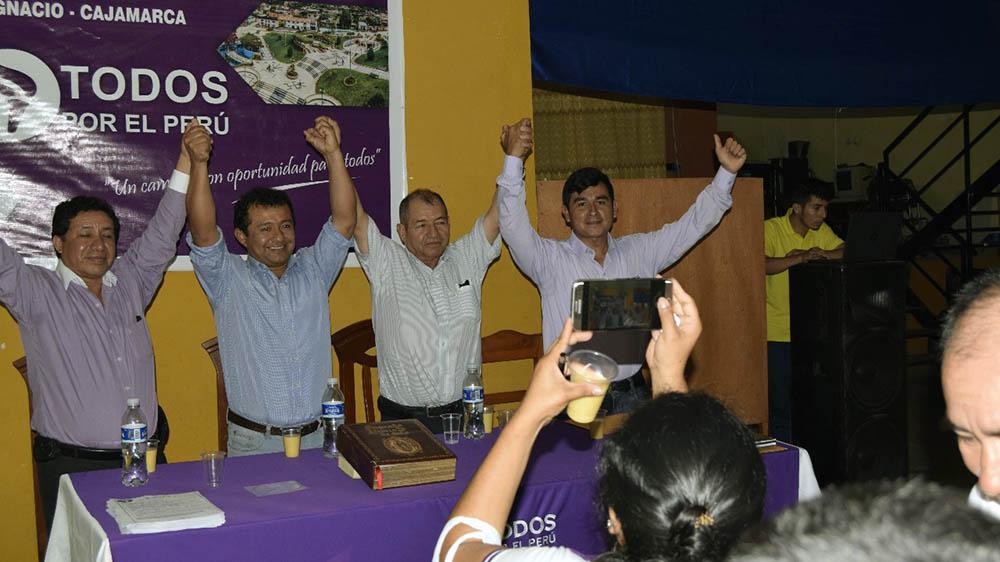 Chardin Jhonatan Mijahuanca Pinzón pre candidato a San Ignacio por el Todos por el Perú.