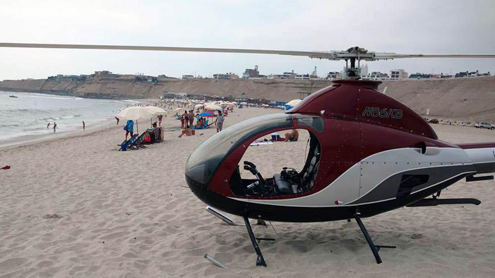 Helicóptero listo para prestar ayuda a la ciudadanía.
