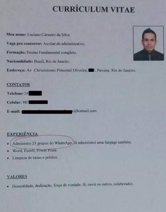 Facebook Viral Postulante Puso Inusual Experiencia Laboral En Su Cv