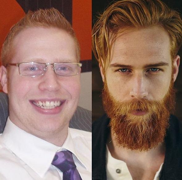 Se deja crecer la barba y ahora triunfa en Instagram