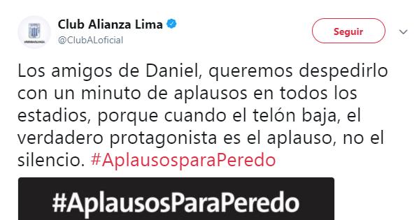 La campaña que impulsan sus amigos en Twitter — Daniel Peredo
