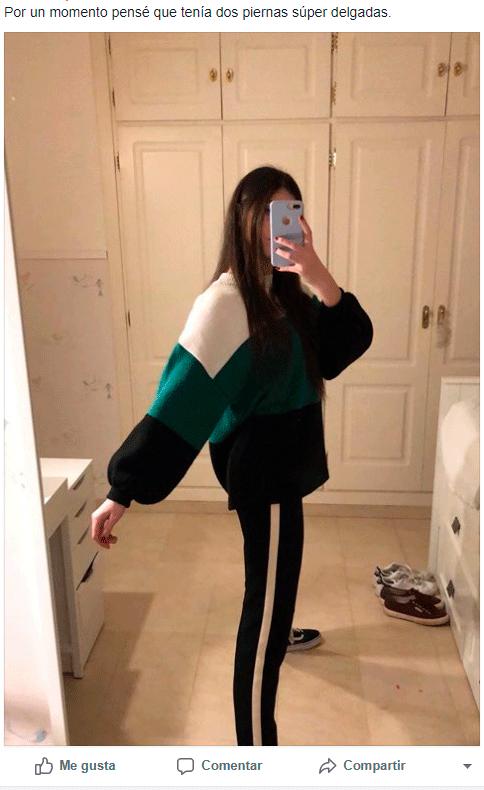 Facebook: Se tomó selfie, pero detalle en sus piernas genera ...