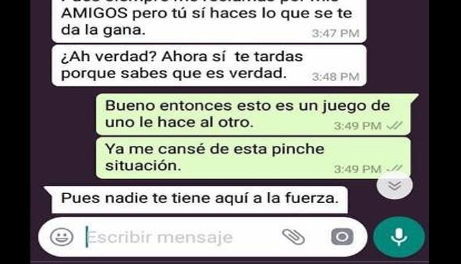 Whatsapp Novio Celoso Reclama A Chica Y Ella Lo Pone En Su Lugar