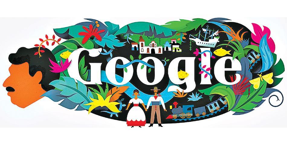 Google le rinde un homenaje a Gabriel García Márquez con este 'doodle'