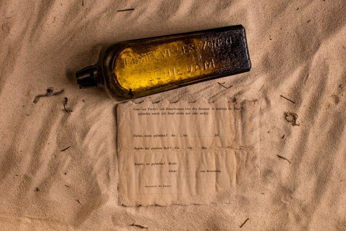 ¿Qué dice el mensaje más antiguo hallando en una botella?