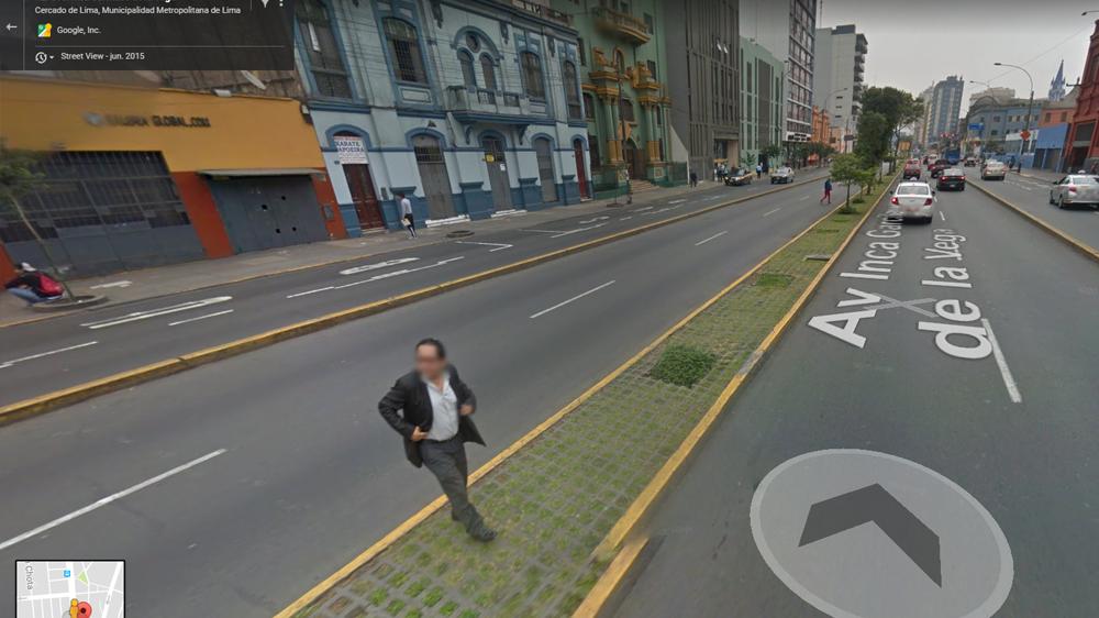 Google Maps captó a una abuelita en su peor momento