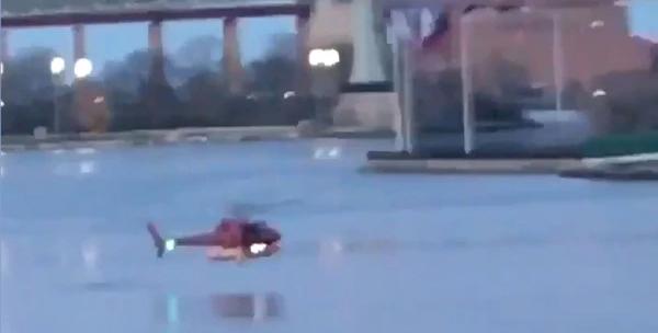 helicóptero se estrella