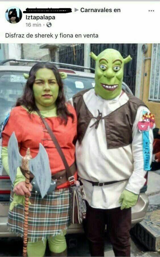 Facebook Viral Quiso Vender Disfraces De Shrek Y Fiona Y Recibio