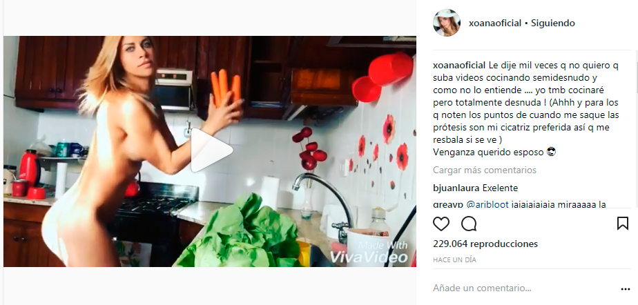 Xoana González Se Venga De Su Esposo Y Se Graba Desnuda En La Cocina