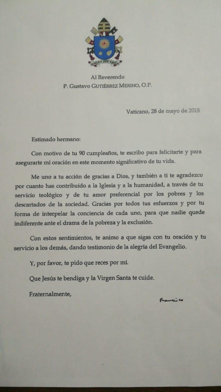 Papa Francisco padre Gutiérrez