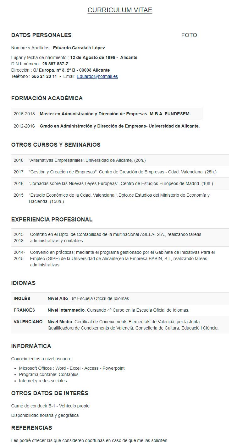 certificado de estudios ejemplo