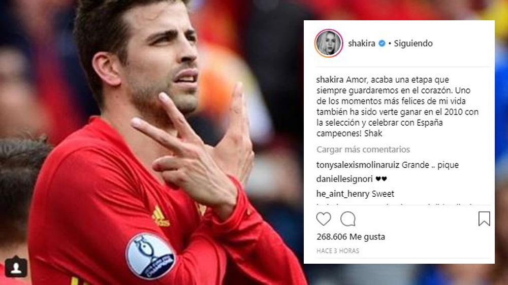 Shakira envía mensaje a Gerard Piqué