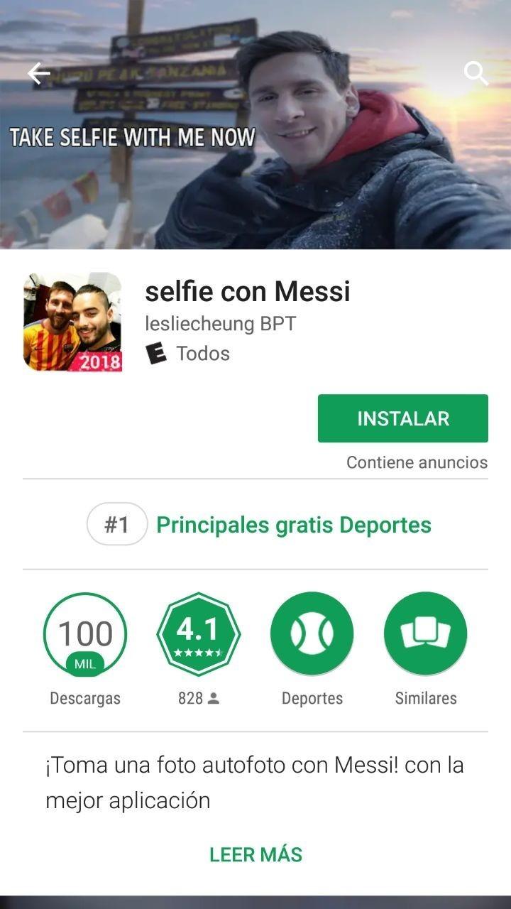 Selfie messi 2