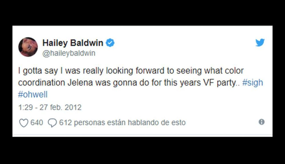 Tuit de Hailey Baldwin