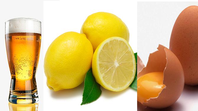 Huevo, limón y cerveza