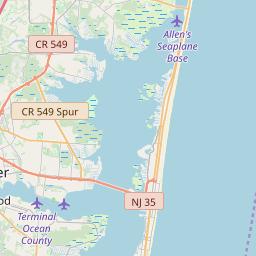 Ocean County, New Jersey Hardiness Zones on