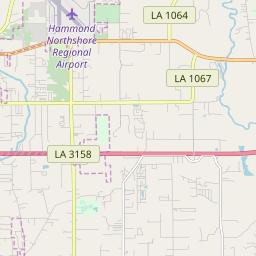 hammond zip code map