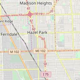 Ferndale Michigan Map.Ferndale Michigan Hardiness Zones