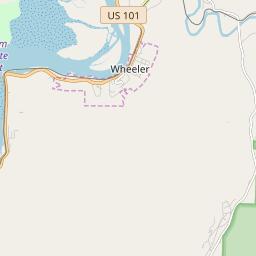 Wheeler Oregon Map.Wheeler Oregon Hardiness Zones