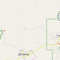 Map Of Arizona Including Jerome.Jerome Arizona Hardiness Zones