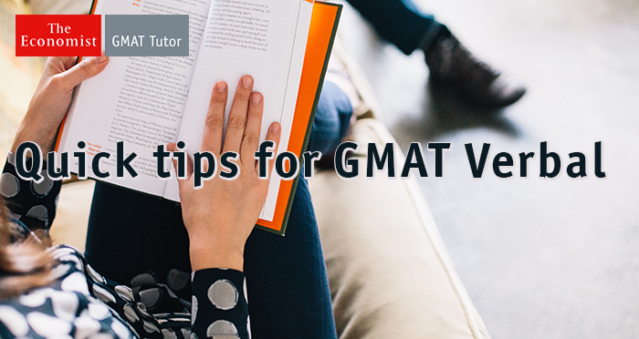 GMAT Verbal tips
