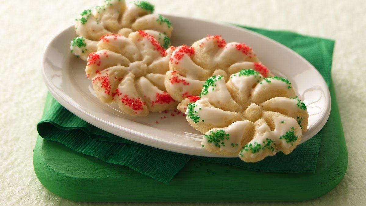 Eggnog Spritz Cookies