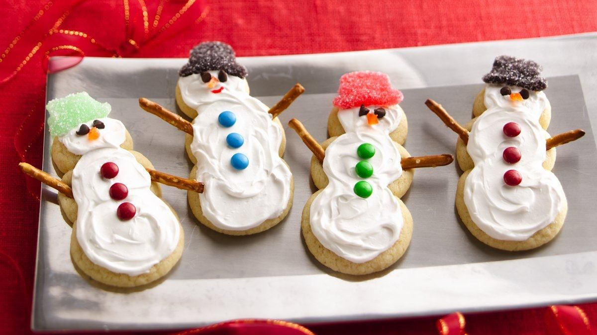 Sugar Cookie Snowmen
