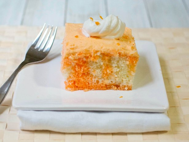 Jello Cake Frosting Recipe: Orange Cream Poke Cake Recipe From Betty Crocker