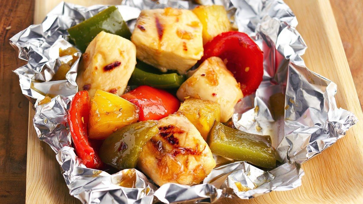 Grilled Pineapple Chicken Kabob Packs