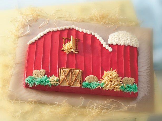 Little Red Barn Cake recipe from Betty Crocker