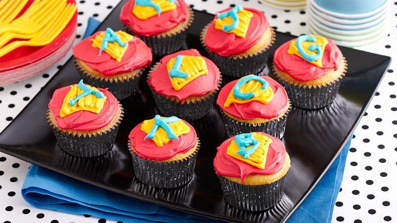 Superhero Cupcakes Recipe From Betty Crocker