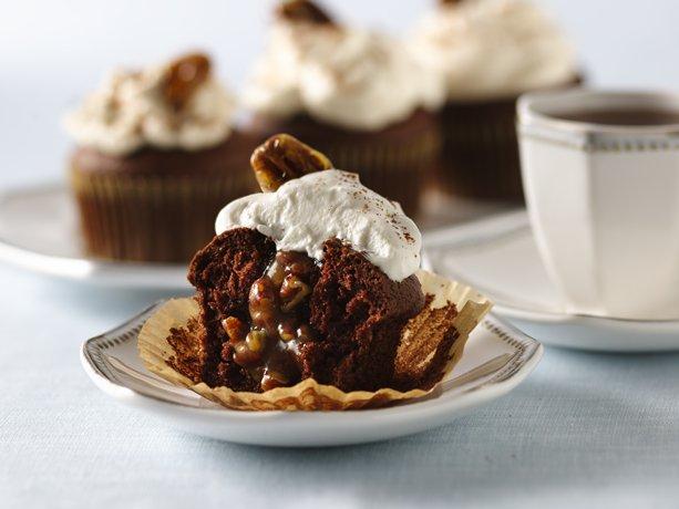 Image of Pecan Pie-filled Chocolate Cupcakes, Betty Crocker
