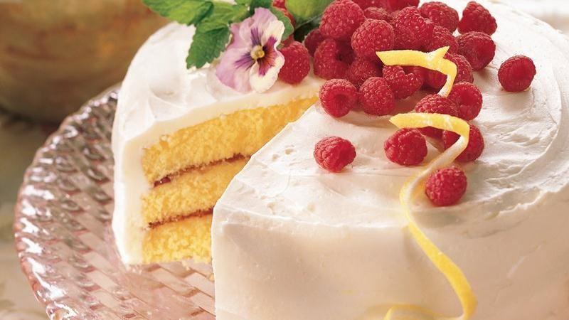 Lemon-Raspberry Cake recipe from Betty Crocker