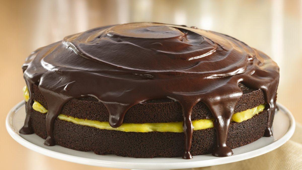 Chocolate-Orange Cake with Ganache Glaze (Gluten Free)