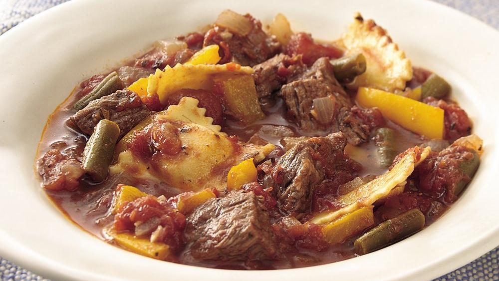 Italian Beef and Ravioli Stew recipe from Pillsbury.com